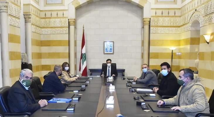 دياب ترأس اجتماعا وزاريا حول موضوع ترشيد الدعم والتقى يمين ووفدا من نقابة عمال الإهراءات
