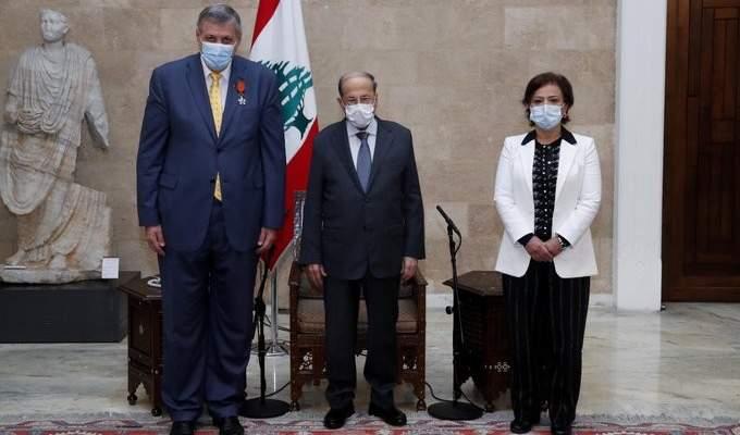 الرئيس عون أكّد لكوبيتش تمسك لبنان بالمواثيق والقرارات الدولية وخصوصاً القرار 1701