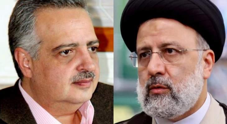 أرسلان هنأ رئيسي بنيله ثقة الشعب الإيراني الذي بقي صامدا بوجه كل الضغوطات