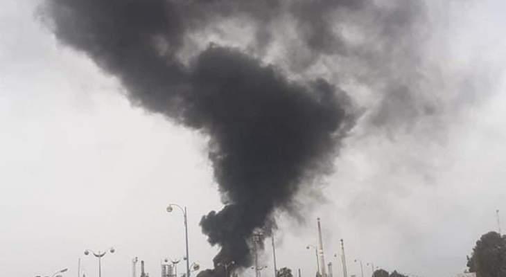 اندلاع حريق في مصفاة حمص وسط سوريا دون معرفة الأسباب حتى الآن