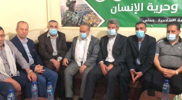 قيادتا حزب الله وحماس عقدتا اجتماعا بمكتب الحركة بمخيم الجليل ببعلبك
