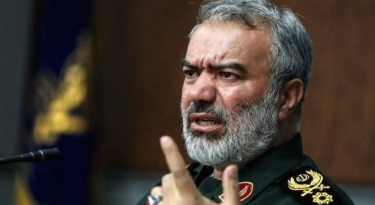 مسؤول بالحرس الثوري: أميركا لم تنتصر أبدا أمام إيران وجبهة المقاومة