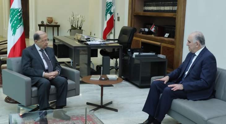 رئيس الجمهورية استقبل وزير الداخلية وعرض معه مشروع قانون اعفاء المحكومين