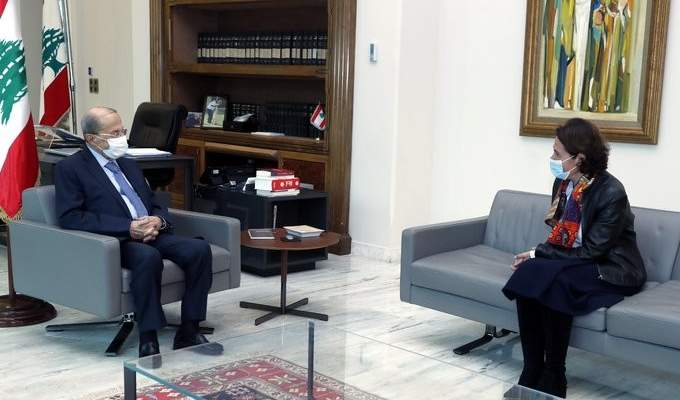 الرئيس عون التقى سفيرة فرنسا وعرض معها التطورات الراهنة