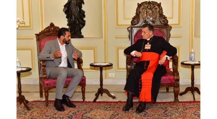 البطريرك الراعي بحث مع المصري بالأوضاع الاقتصادية والاجتماعية في لبنان