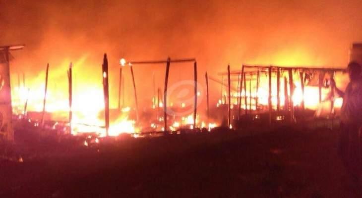 النشرة: اندلاع حريق بتلة مار تقلا دقون بعاليه وشبان البلدة يعملون على اطفائها