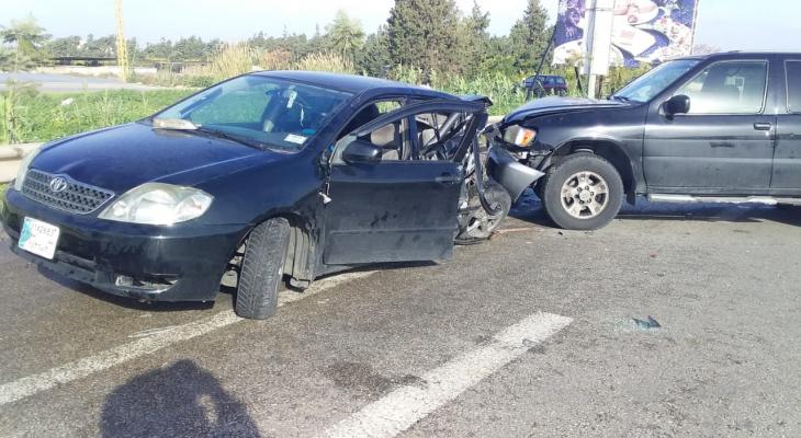 النشرة: 4 جرحى في حادث سير على اوتوستراد الغازية
