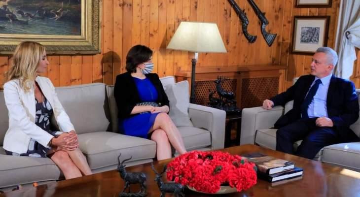 فرنجية استقبل سفيرات كندا والنرويج وسويسرا