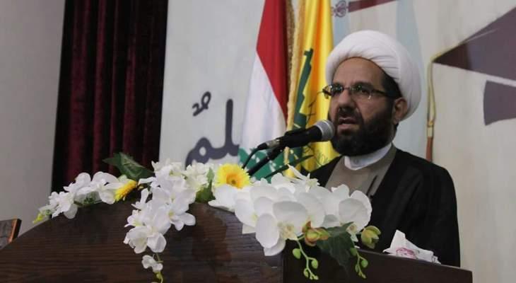 دعموش: حزب الله لن يسمح باستغلال مطالب الناس المحقة وتوظيفها لتغيير المعادلات