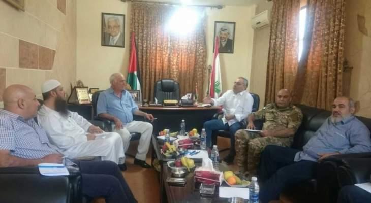 غرفة العمليات اجتمعت في مقر الامن الوطني الفلسطيني في عين الحلوة
