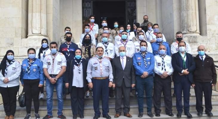 يمق استقبل متضامنين مع بلدية طرابلس: حرقها جريمة انسانية تضر بمصالحنا