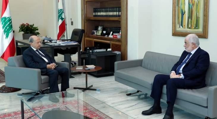 الرئيس عون اطلع من أبو زيد على نتائج زيارته الى موسكو ومحادثاته مع المسؤولين الروس