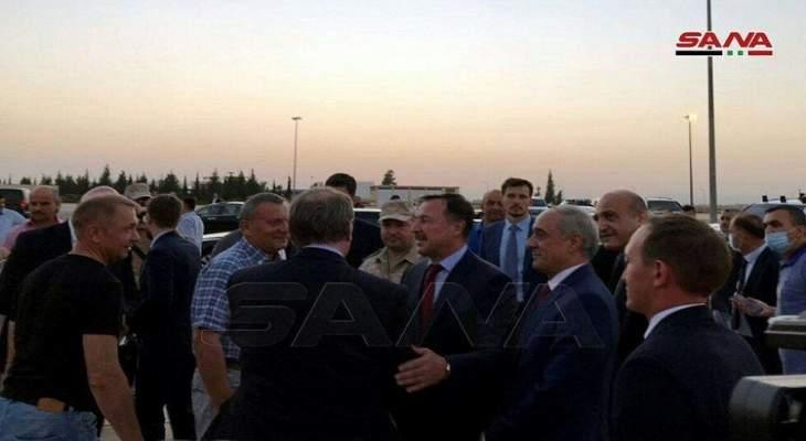 رئيس مجلس الوزراء الروسي وصل مطار دمشق الدولي على رأس وفد روسي رفيع المستوى