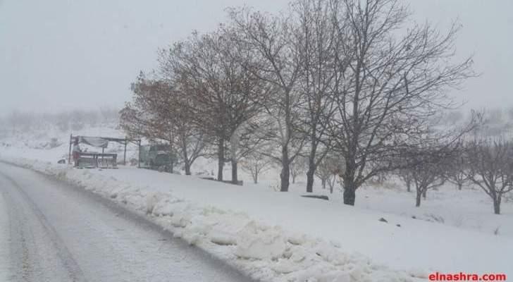 التحكم المروري: طريق عيناتا الارز مقطوعة بسبب تراكم الثلوج
