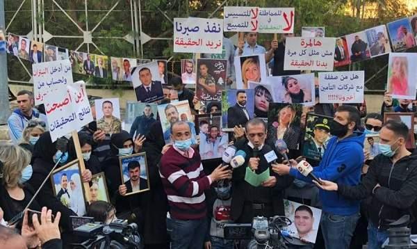 أهالي شهداء المرفأ: لا تزالالفئة الباغية مستمرة في عدوانها على دمائنا ودموع أمهاتنا وأطفالنا