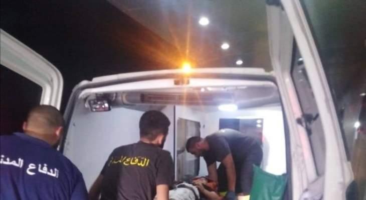 الدفاع المدني: ثلاثة جرحى نتيجة حادث سير على طريق عام العباسية