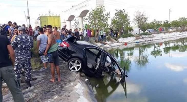 النشرة: وفاة أب وزوجته وولدهما بعد سقوط سيارتهم ببركة المنصوري جنوبا