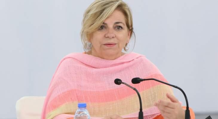 رئيسة بعثة الاتحاد الأوروبي لمراقبة الانتخابات زارت لبنان: بالأزمات يجب أن يشارك المواطنون برسم مستقبل البلاد
