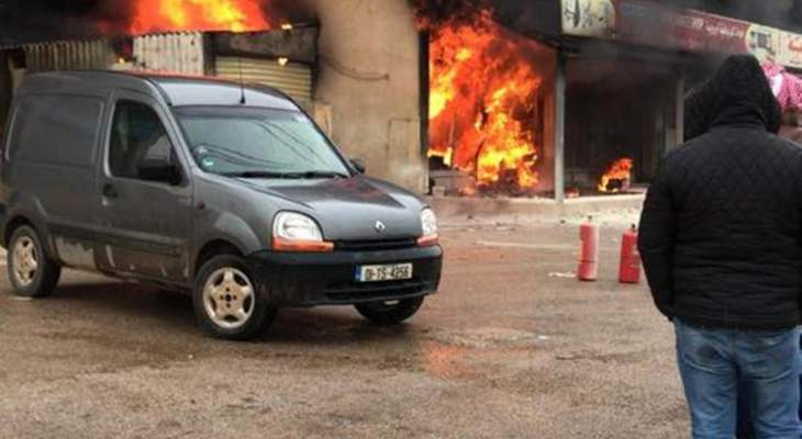 الدفاع المدني: إخماد حريق داخل محل لبيع الأدوات الكهربائية في بريتال