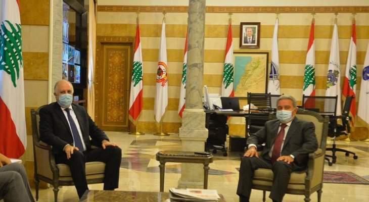 فهمي التقى المشرفية وعقيص وعرض مع فرونتسكا للشراكة بين لبنان والأمم المتحدة