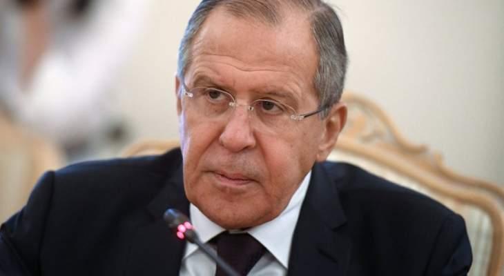 لافروف اكد عزم كل من روسيا وتركيا على تعزيز التعاون العسكري