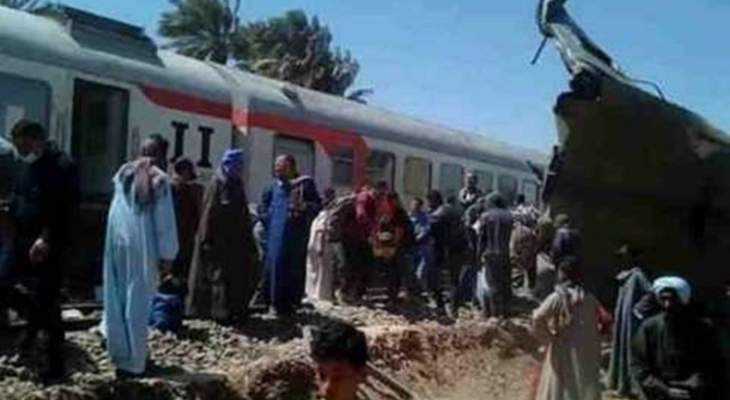 سقوط إصابات بعد خروج 5 عربات قطار عن مسارها في منيا القمح في مصر