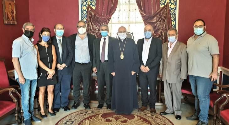 المطران درويش عرض الأوضاع الصحية في زحلة والبقاع مع مدير عام وزارة الصحة