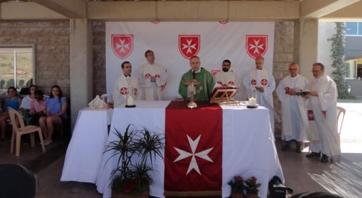 كاتشا ترأس قداس جمعية فرسان مالطا وتكريم لمنى الهراوي ورباب الصدر