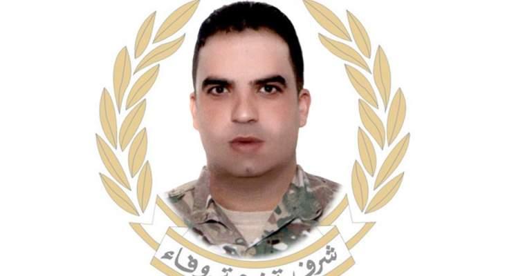 قيادة الجيش نعت الرقيب دياب حلوم الذي استشهد في إطلاق في بعلبك