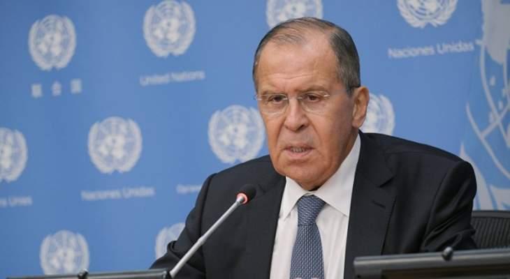 لافروف: على مكتب بيدرسن تجنب التدخل في عمل اللجنة الدستورية السورية