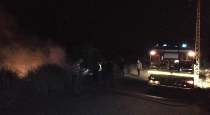 اندلاع حريقين في بينو في محلتي الصبحية وضهر القلد