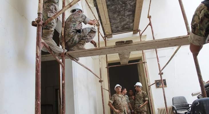 الجيش: تأمين مبنى وزارة الخارجية المتضرر جراء الانفجار بتدعيم سقفه