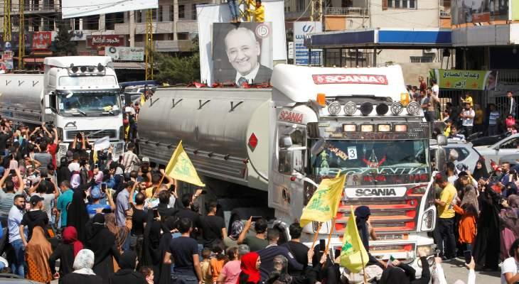 الميادين: قافلة صهاريج المازوت الإيراني الثالثة عبرت الحدود السورية باتجاه لبنان