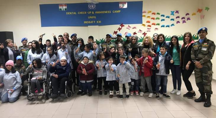 الكتيبة الهندية نظمت محاضرة حول الرعاية بالصحة وسلامة الاسنان في مركز حاصبيا العرقوب