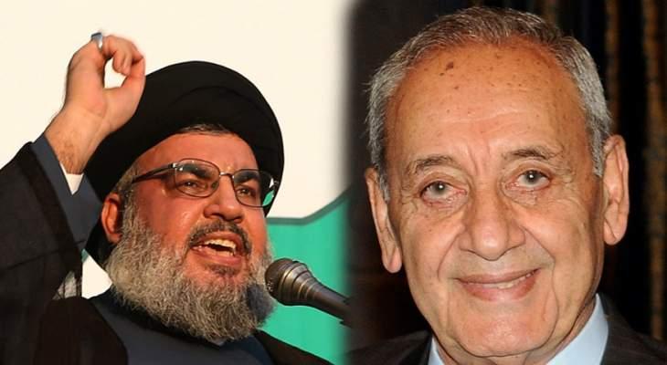 «حزب الله»: ما بين بري ونصرالله لا يعرفه كثيرون