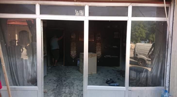 الدفاع المدني: إخماد حريق داخل متجر في أنصارية- الصرفند