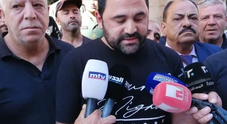 عمال البلديات ببعلبك نفذوا اعتصاما احتجاجا على عدم تقاضي رواتبهم