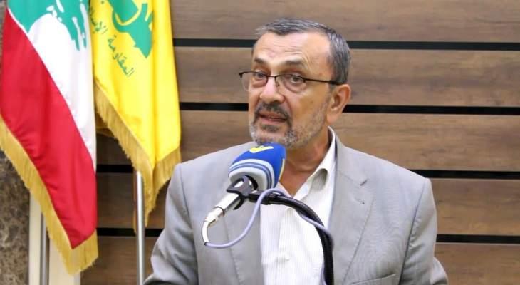 حسن عز الدين: المقاومة اليوم باتت مهمة وعظيمة ونقطة ارتكاز في القدرة والقوة