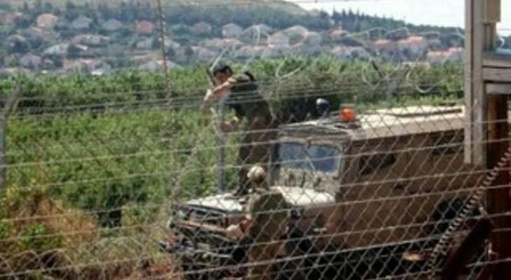 النشرة: قوة إسرائيلية مشطت الطريق العسكري بمحاذاة السياج الحدودي
