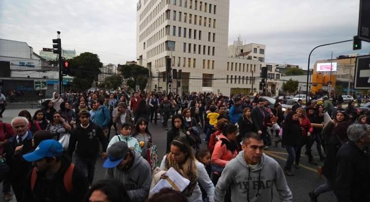 إجلاء المئات من المواطنين في تشيلي بعد زلزال قوته 7.1 درجة