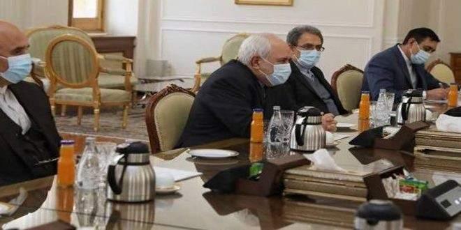 ظريف لبيدرسون: بعض الدول تعرقل التسوية السياسية للأزمة في سوريا