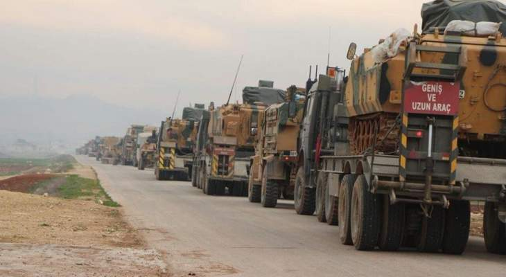 المرصد السوري: دخول رتل عسكري تركي من معبر كفرلوسين الحدودي باتجاه ريف إدلب