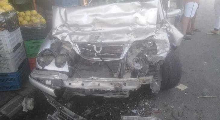النشرة: جريح في حادث سير على الاوتوستراد الشرقي بالقرب من مدخل صيدا