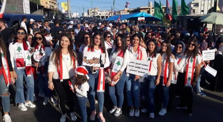 النشرة: حراك كفرمان نظم مسيرة نسائية جالت في شوارع النبطية