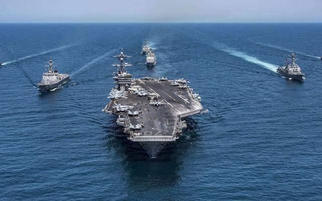 الأسطول الخامس الأميركي اعلن السيطرة على قارب يحمل أسلحة مهربة في بحر العرب