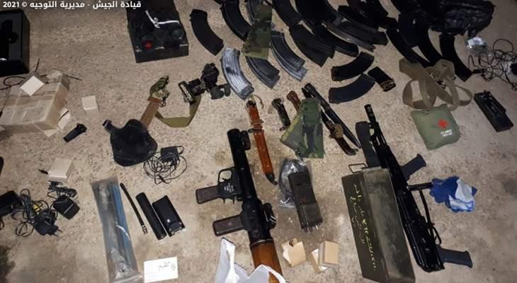 الجيش: مداهمة منزل في بعلبك وضبط كميات من الأسلحة