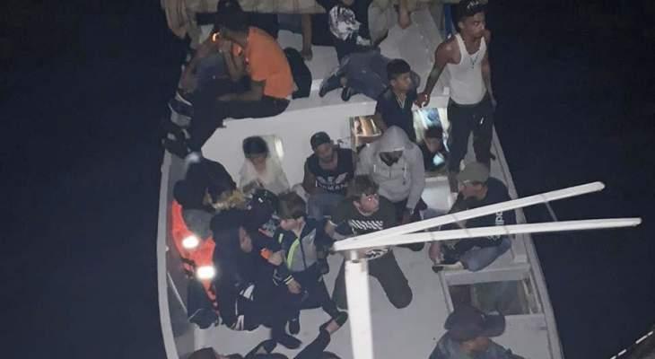 الجيش اللبناني: إحباط عملية تهريب 37 شخصا عبر البحر