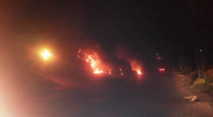 الدفاع المدني: إخماد حريق نفايات وعليق وأشجار في مستيتا- جبيل
