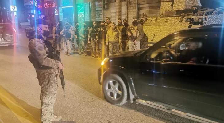 فوج التدخل الثالث في الجيش نفذ انتشارا واسعا في قضاء زحلة لحفظ الأمن