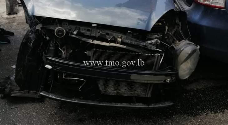 3 جرحى نتيجة تصادم بين 5 مركبات على تقاطع صلاح الدين الايوبي البحرين بالحمرا
